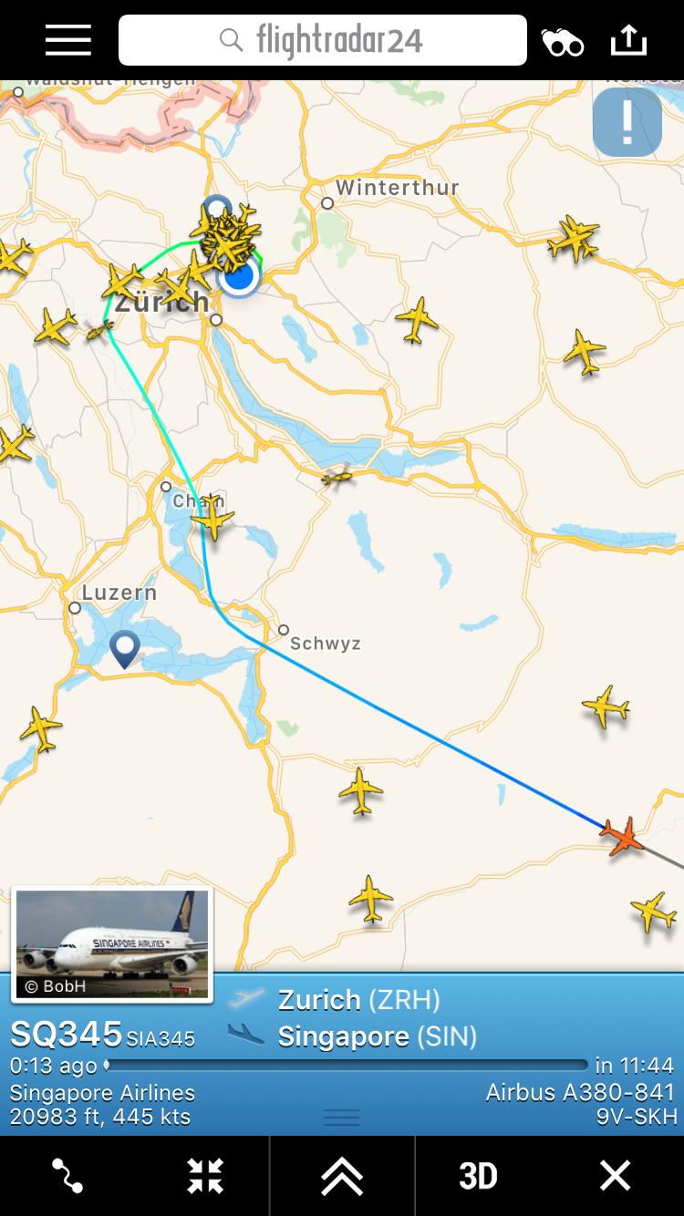 A380 zrh nach Singapur etwas ungewöhnliche Route! - Vorfälle ...